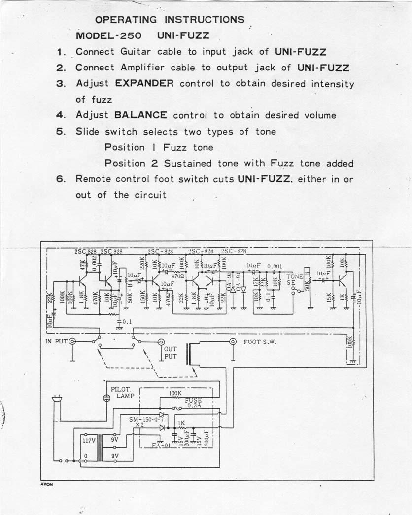 Schematics Univox U 1001 Schematic Manual 111 Kb