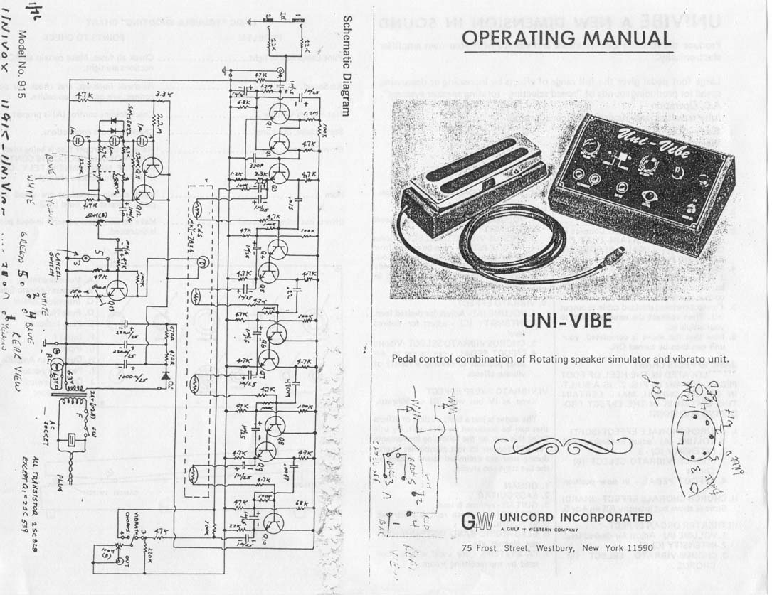 Univox U 45b Schematic | Wiring Liry on